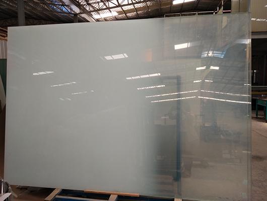 超长超大平弯钢化夹丝玻璃